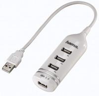 Hama USB 2.0 HUB 1:4 bus-powered,white (039788)
