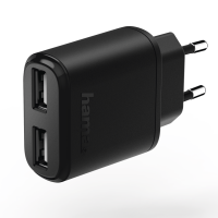 Hama Charger, 2x USB, 2.4 A, black(173623)