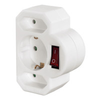 Hama Adapter 3-Way Socket