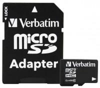Verbatim microSDHC Class 10 32GB + SD adapter