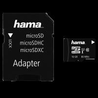 Hama microSDHC 16GB Class 10 UHS-I + Adapter
